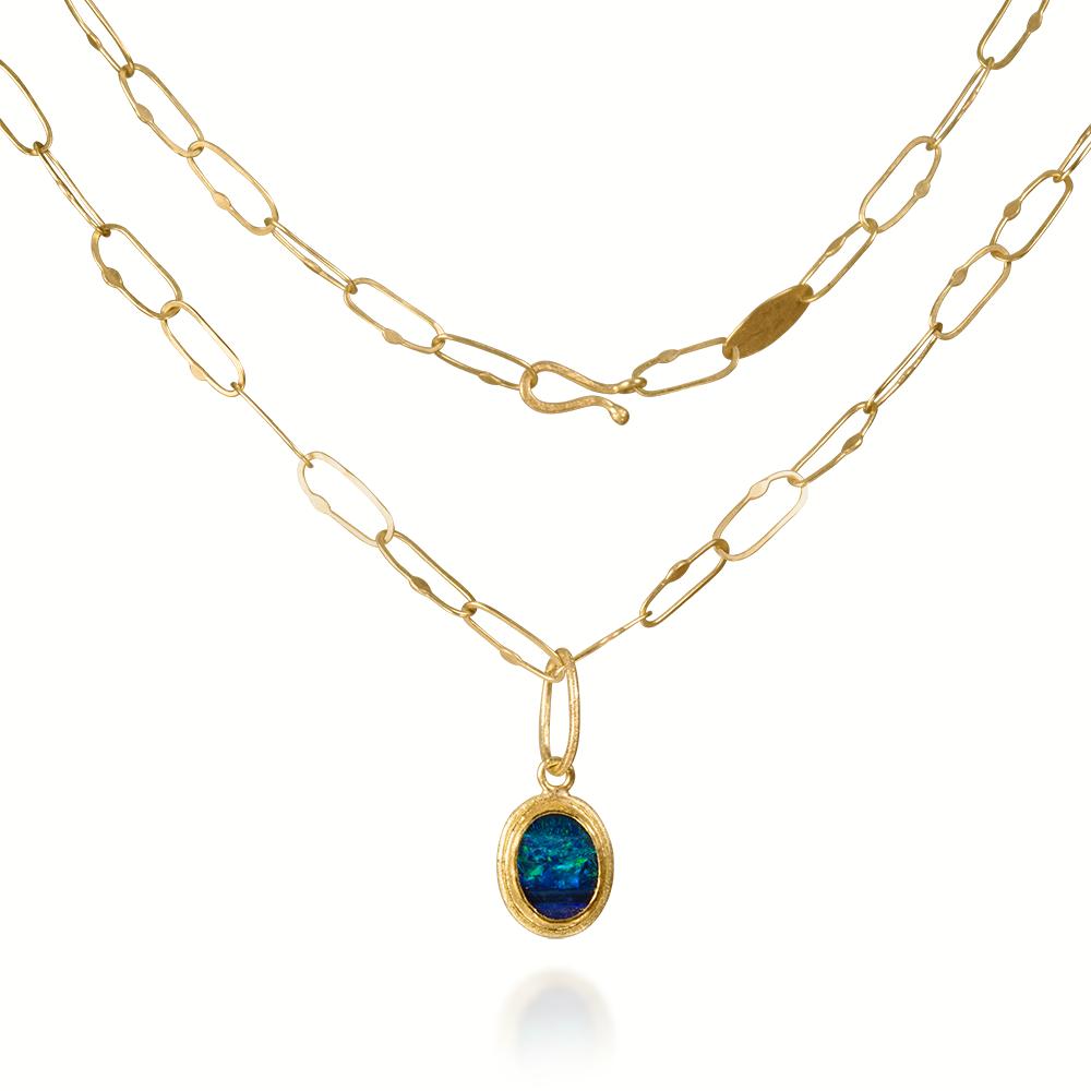 Blue Opal Pendant